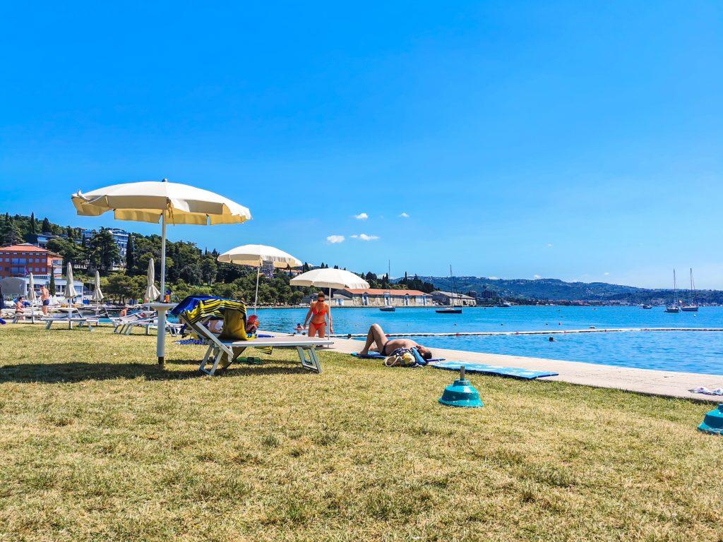 Piran - Miestna pláž