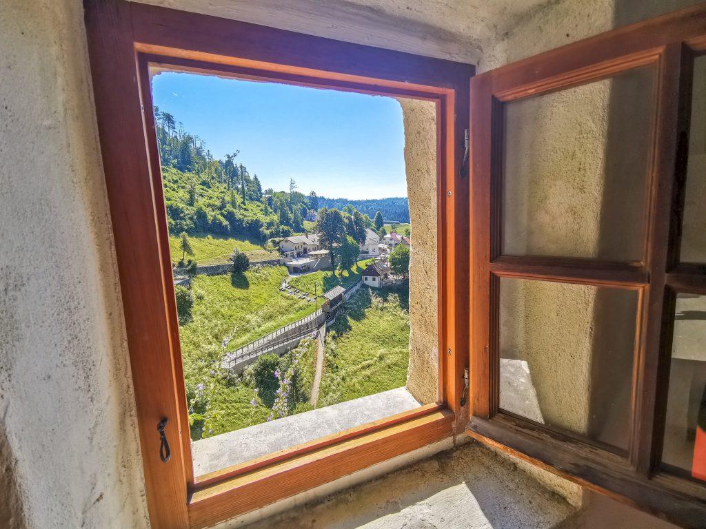 Hrad Predjama - výhľad