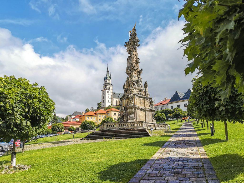 Kremnica - Mestský hrad a morový stĺp
