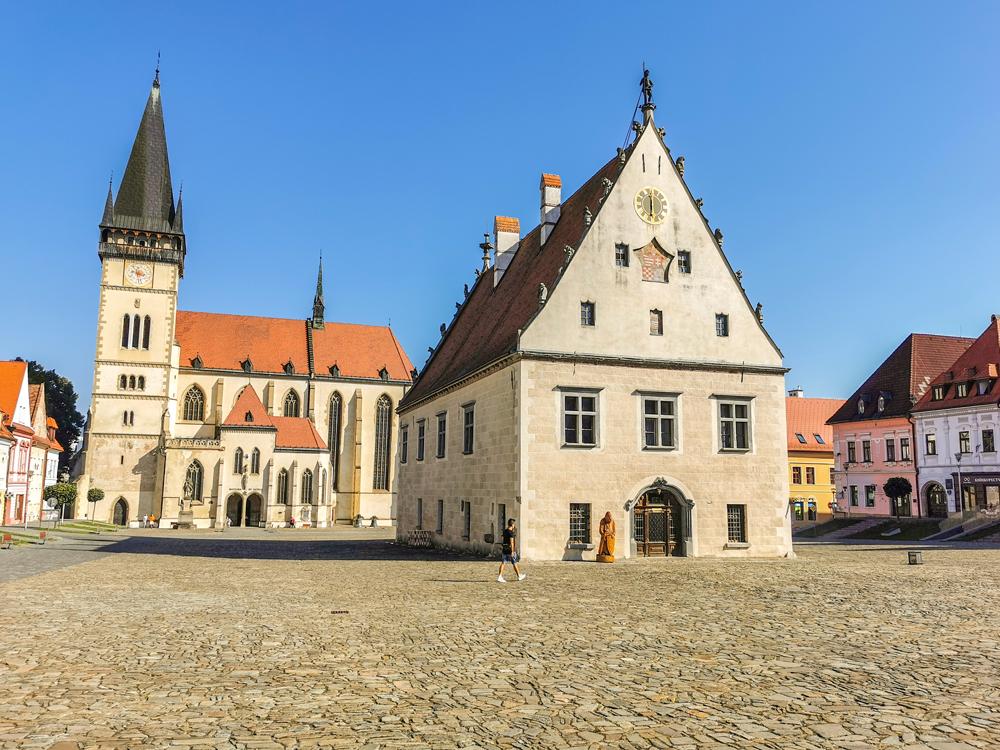 Bardejov - Mestská radnica a Bazilika sv. Egídia