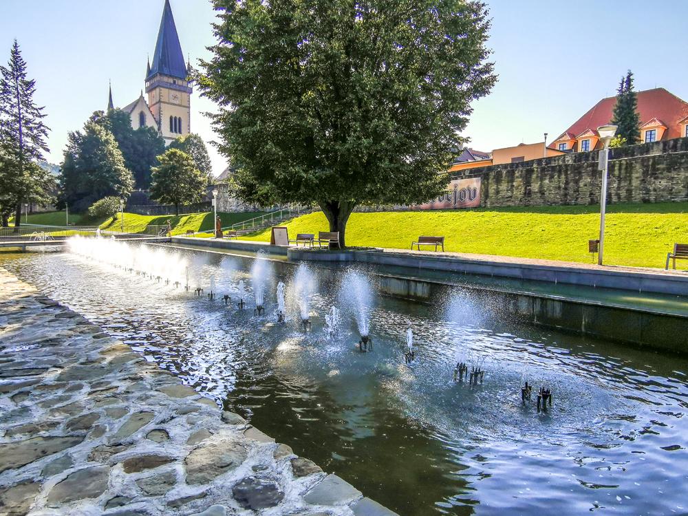 Spievajúca fontána Bardejov