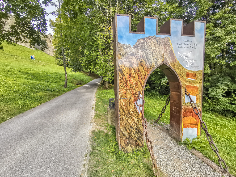 Cesta k Hradu Stará Ľubovňa