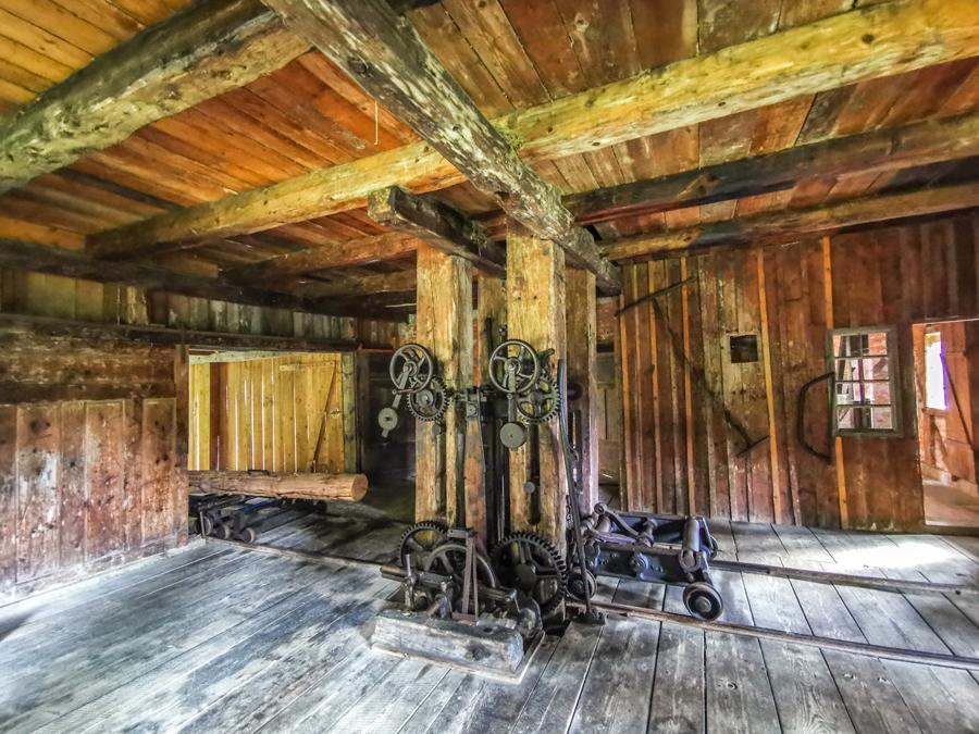 Interiér Vodného mlyna z Klubiny