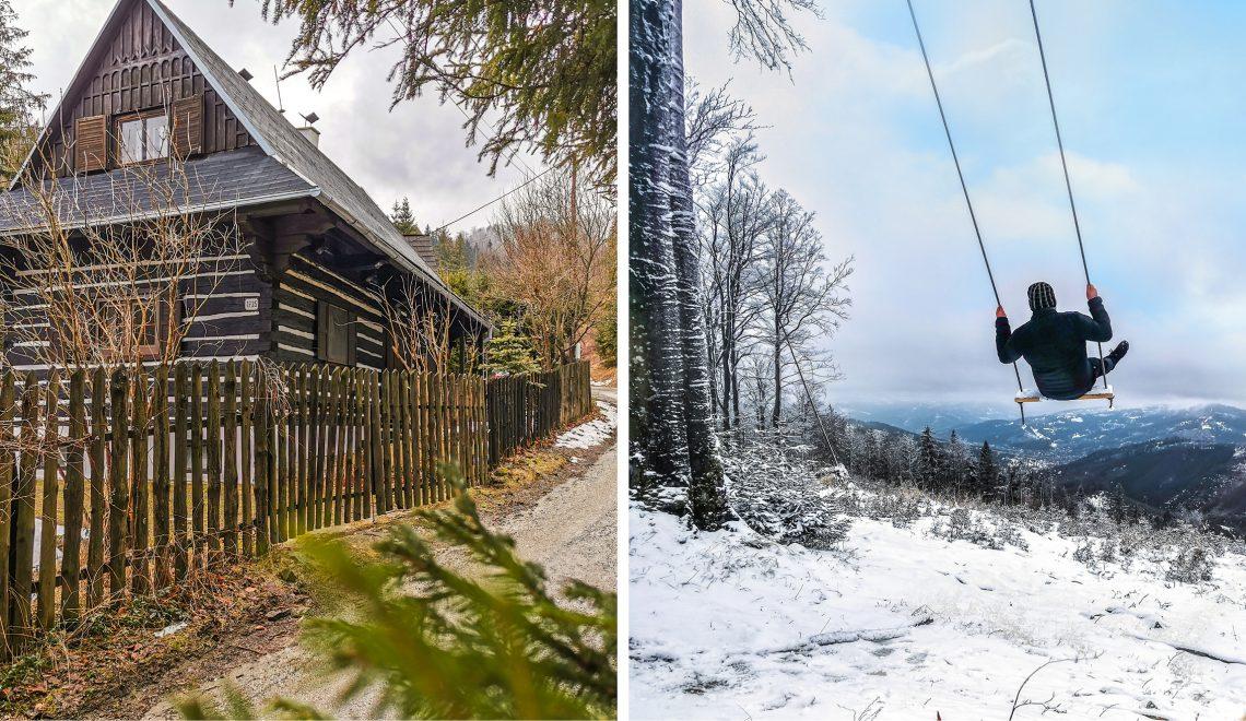 Oščadnica – Hojdačka na vrchu Zonka s výhľadom na Kysuce