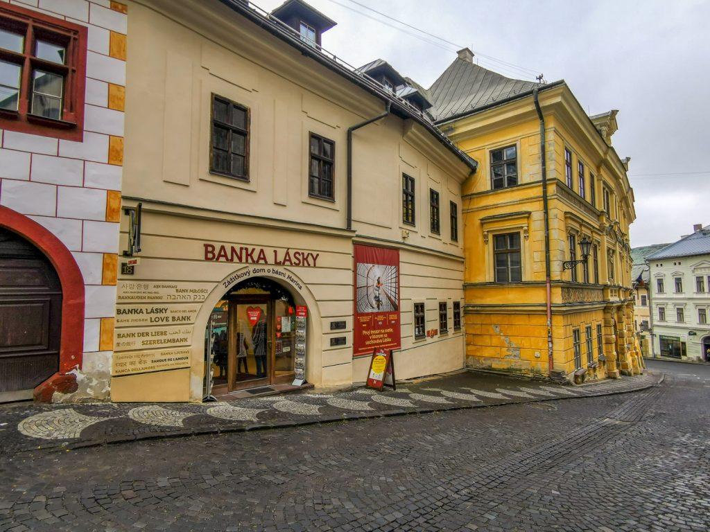 Banská Štiavnica - Banka lásky v Dome Maríny