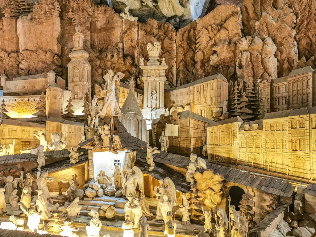Štiavnický drevený pohyblivý Betlehem