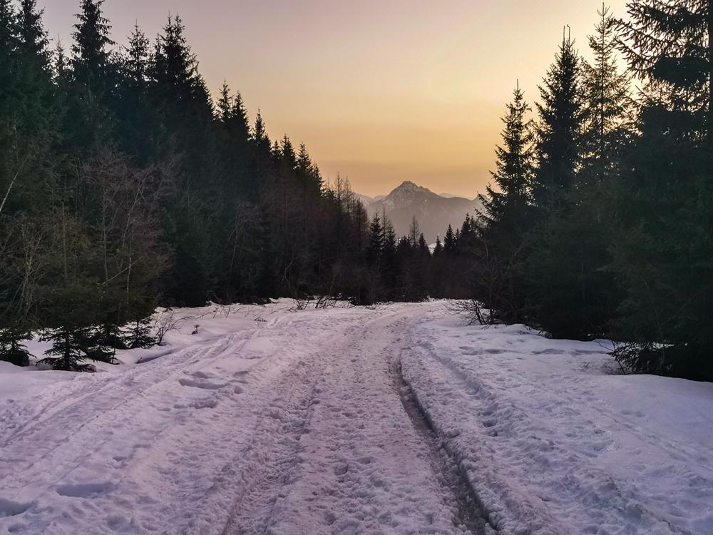 Zázrivá - západ slnka