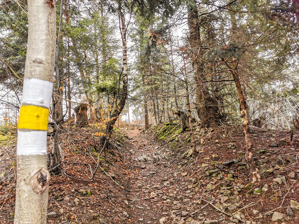 Hojdačka Oščadnica - Stále treba sledovať žltú značku