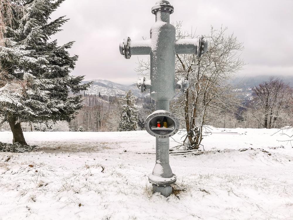 Hojdačka Oščadnica - Pri kríži treba odbočiť doľava