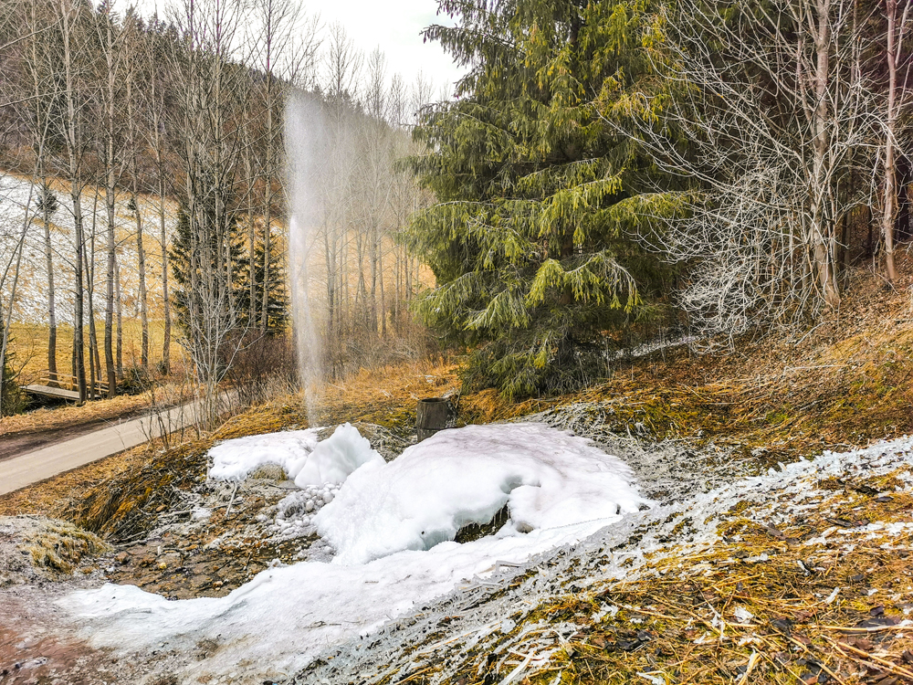 Gejzír v Rajeckej Lesnej je zaujímavý najmä v zime