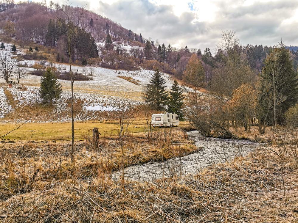 Vanlife na Slovensku v Rajeckej doline