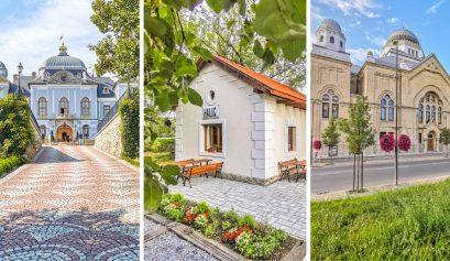 Haličský zámok, Synagóga Lučenec a Železničný domček Halič