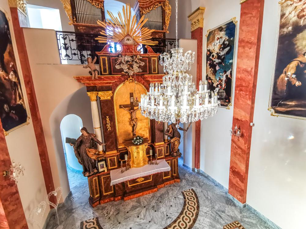 Haličský zámok - Zámocký hotel Galicia Nueva - kaplnka