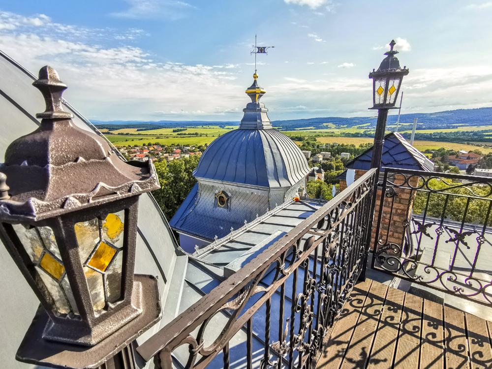 Haličský zámok - Zámocký hotel Galicia Nueva - výhľad zo strechy