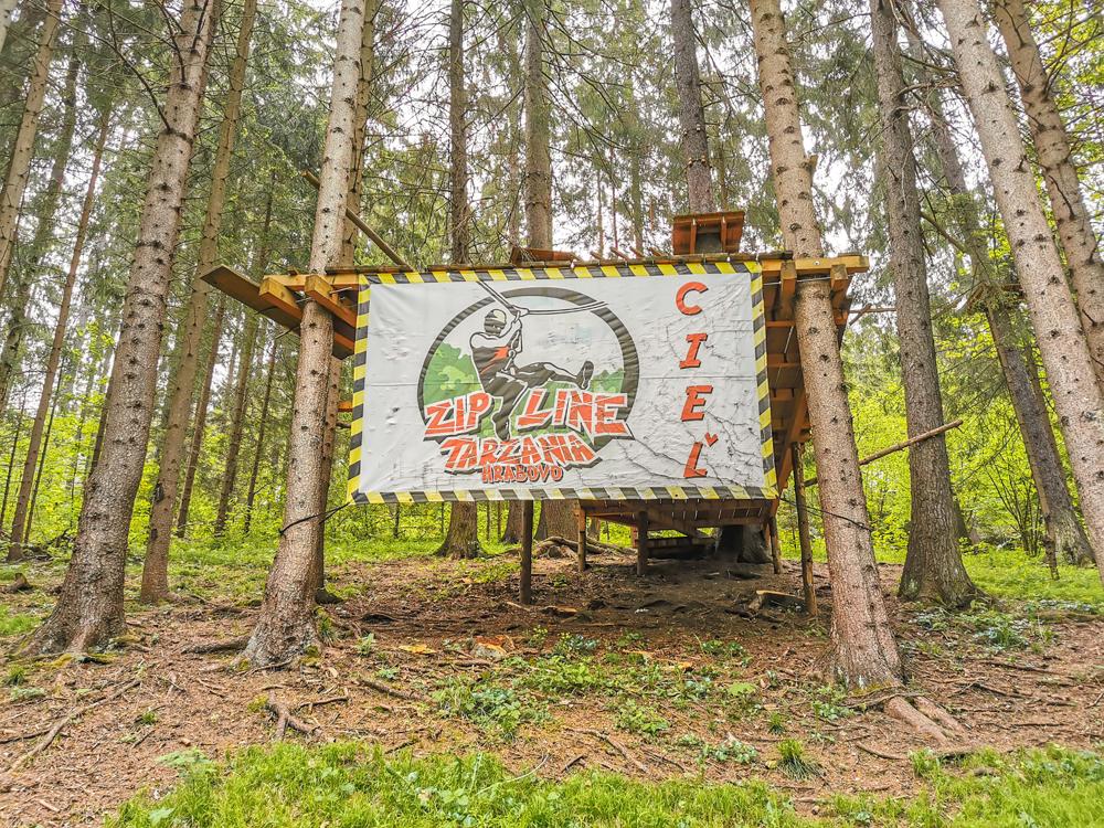 Hrabovo - 300m dlhý Zipline nad priehradou