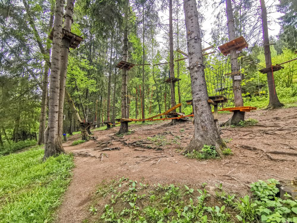 Hrabovo - Lanový park Tarzania