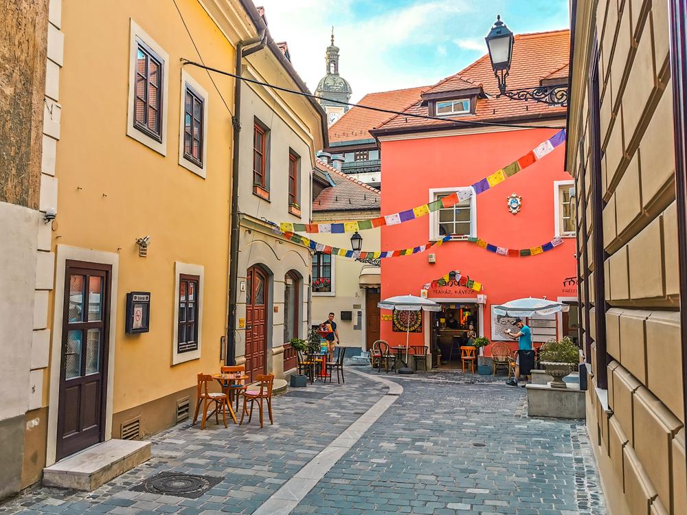 Nádherné uličky v meste Győr