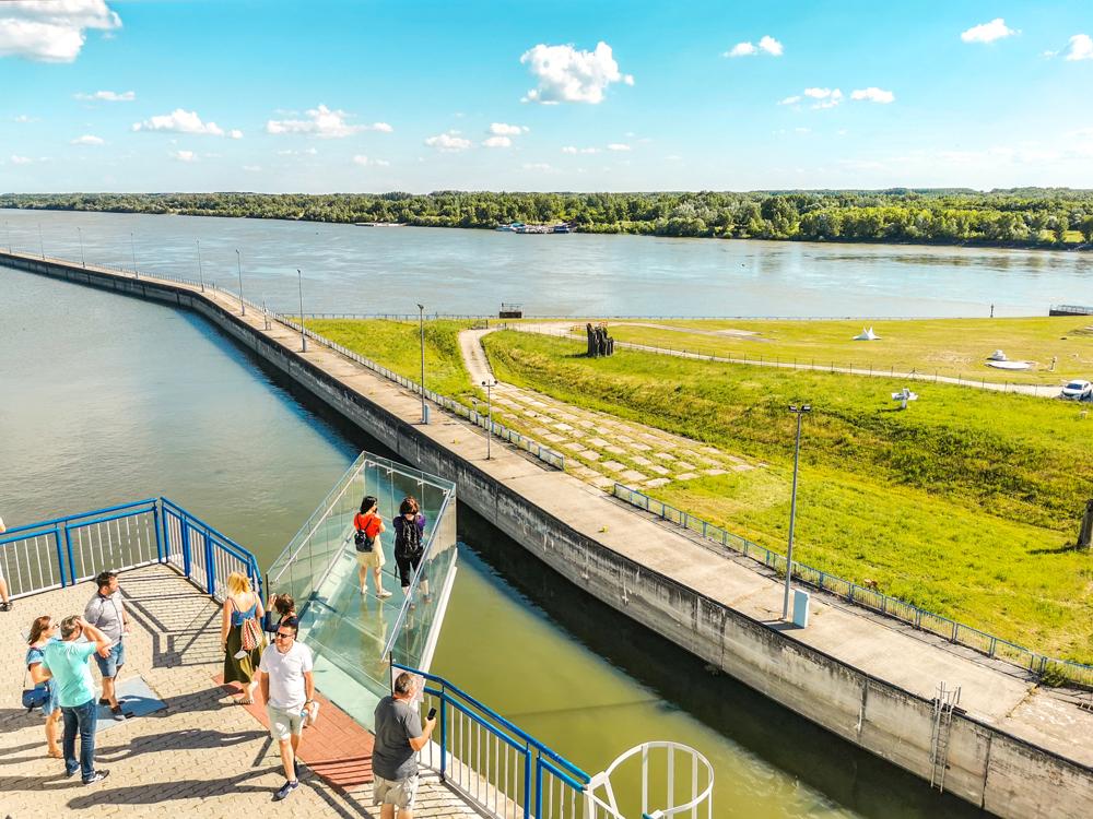 Žitný ostrov - Vodné dielo Gabčíkovo - presklenná vyhliadka