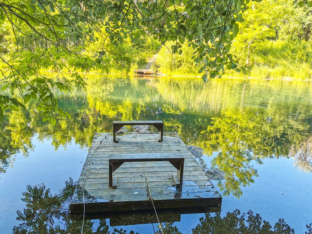 Prírodná rozhľadňa s výhľadom na Dunaj pri obci Hamuliakovo a Kalinkovo - Nájdete tu aj plťku