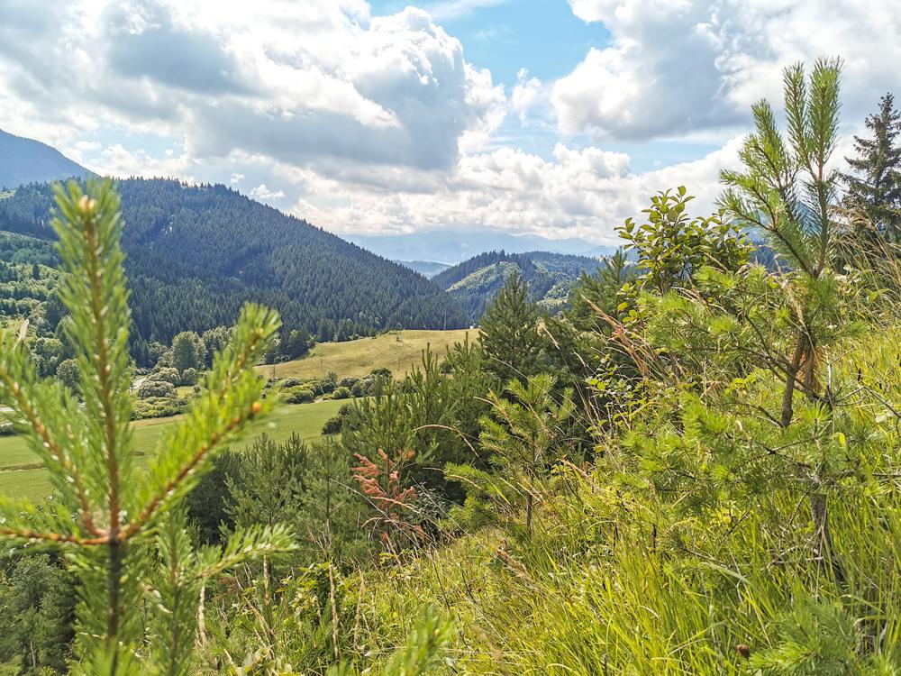 Valaská Dubová - výhľady na okolie