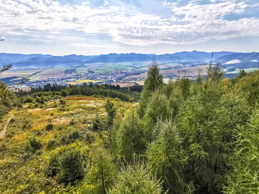 Rozhľadňa Dubová - Výhľad na okolie