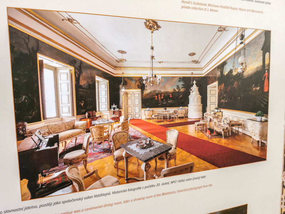 Interiér zámku Mníchovo Hradište
